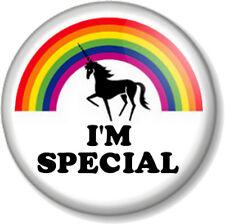 I'M SPECIAL Rainbow Unicorn 25mm Pin Button Badge Fairy tale Mythical Fun Kawaii