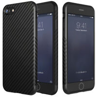 Luxury Soft Carbon Fiber Silica TPU Rubber Slim Case Cover for iPhone 6 7 8 Plus