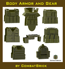 Body Armor Army Vests Gear Accessories Lot Parts Pack made for LEGO® Minifigure