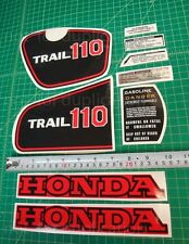 81 1981 honda CT110 110 trail 9pc Vintage graphics decals stickers kit