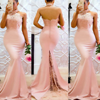 Sexy Women Sleeveless Strapless Bodycon Long Evening Cocktail Dress Formal Party