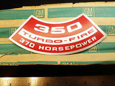NOS 1970 Corvette Camaro LT1 350 Turbo-Fire 370HP Air Cleaner Decal 70 z28 chevy