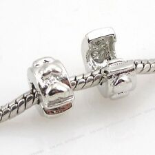 5x 150130 Three Hearts Stopper Charms European Beads Fit Charms Bracelets