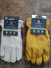2 x Kent & Stowe  Luxury Leather Gardening Gloves Size M Ladies Medium
