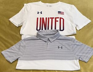 Under Armour Boys Shirts Size Youth Large Lot Of 2