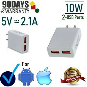10W 2.1 ADouble USB Wall Charger Cube for Samsung,LG,iPhone X,iPad 4,5,Mini [10