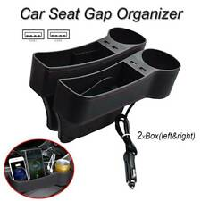 Multifunction Auto Storage Box Usb Charging Car Seat Gap Organizer Cup Holder