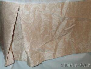 "Bedskirt King Domestications Sculpted Velour Cream Ivory Heavyweight Texture 14"""