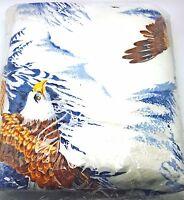 Twin Full Blanket Bedspread American Eagle Outdoor Rustic Cabin Lodge 72x90 New
