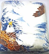 Twin Full American Eagle Outdoor Rustic Cabin Lodge Blanket Bedspread 72x90 New