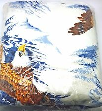 Twin Full Blanket Bedspread American Eagle Outdoor Rustic Cabin Lodge 72x90 New