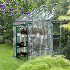 3 Tier Greenhouse Garden Plant tall apex Green Hot House Shed Storage PVC Cover.