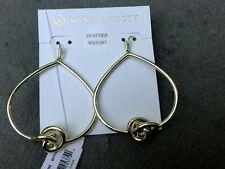New ~ Kendra Scott Presleigh Gold Love Knot open frame  Earrings