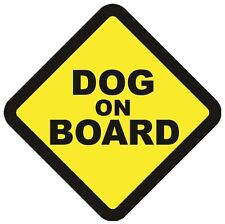 DOG ON BOARD VEHICLE WARNING SAFETY SIGN VINYL DECAL CAR WINDOW BUMPER STICKER