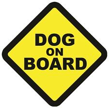DOG ON BOARD WARNING SAFETY SIGN Sticker Vinyl Decal for car vehicle window