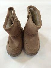 Cherokee Tan Suede Zip Up Boots Size 3