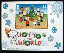 SNOOPY STAMPS SHEET MNH 2003 GIBRALTAR CHRISTMAS STAMPS PEANUTS CHARLIE BROWN
