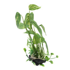 Green Terrarium Plant Ornament Great for Reptiles and Amphibians Cage Box