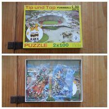 B730 PUZZLE Weltmeisterschaft WM 1974 Tip Tap Bundesliga Fußball DFB 2x100 TEILE