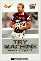 2012 Select NRL Champions Try Machines Foil Card TM17 Brett Stewart (Manly)