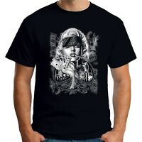 Velocitee Mens T-Shirt Marilyn Monroe Poker Bandit Movie Idol Pin Up A22543
