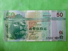 Hong Kong HSBC Bank $50 1 Jan 2009 (UNC) EE 050772