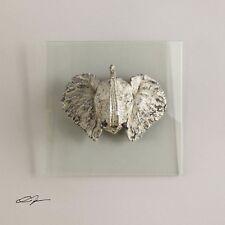 HOME DECOR ELEPHANT HEAD BUST GLASS PLAQUE WALL ART