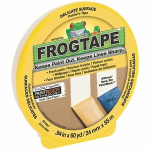 FrogTape 24mm x 55m Delicate Surface Masking Tape Painting renovations DIY frog