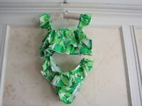 NWT  Janie And Jack Girls  PALM RUFFLE 2-PIECE SWIMSUIT  8  Green