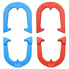 Alan Francis Durable Pro Pitching Horseshoes- 2 Pair, Red/Blue, Made in USA
