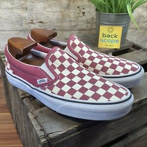 UK7 VANS Asher Old Skool Port Checkerboard Check Slip On Trainers - Barely Worn