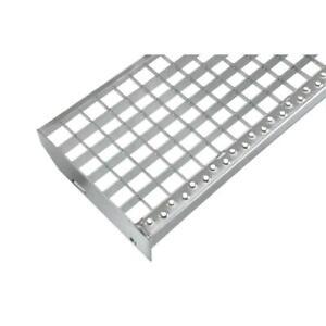 Einpress Industrie Gitterroststufen Treppenstufen MW 30x30 verzinkt 240 mm Tief