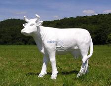 Deko Kuh Statue Skulptur komplett weiß Werbefigur Werbung Bauernhof Horn Figur