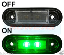 12V/24V FLUSH FIT GREEN LED MARKER LAMP / LIGHT TRUCK VAN LORRY KELSA BAR AS RDX