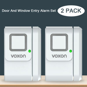 2 Door Entry Alarm/Chime/OFF 3-Mode Wireless Sensor Alert Burglar 120db Security