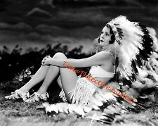 Vintage Thanksgiving Pin-up Indian Chieftess - 1930s - Historic Photo Print