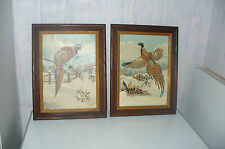 2  Vintage Framed Paint By Number Paintings