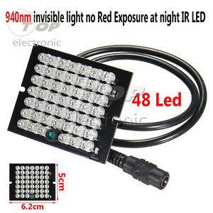 IR Infrared Illuminator 48 LED Bulb Light Board CCTV Night Vision Camera 940nm