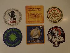 6 Beer Coasters - *Stone *Rogue *Ballast Point *Green Flash *Scrimshaw Breweries