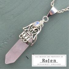 Rose Quartz Silver Plated Natural Fine Necklaces & Pendants