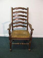 Ethan Allen Royal Charter Oak Ladder Back Arm Chair With Fiber Seat