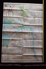 Soviet USSR BIG Tourist scheme route map Leningrad travel 1978 subway tram bus