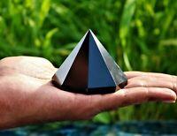 60mm Black Tourmaline Crystal Quartz Stone Chakra Healing Octagonal Pyramid