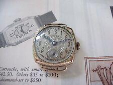 Gruen Watch Ladies C.1920's Green GF engraved, cosmetically EX+, Art Deco runs
