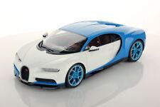 MR Collection Bugatti Chiron Light Blue Sport / Glazier with Showcase 1/18