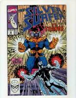 Silver Surfer, #38, VF- 7.5, Thanos, Infinity Gauntlet/Infinity War/Endgame