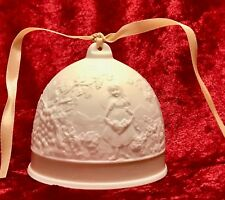 """Christmas Ornament Lladro 1993 Fall Bell Collector's Society Porcelain 2.75"""""""