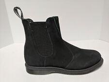 Dr. Martens Flora Kensington Chelsea Boots, Black Suede, Womens 8 M