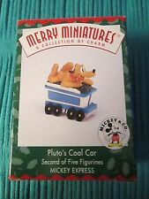 Hallmark 1998 Merry Miniatures Figurine Pluto's Coal Car  2nd in Series