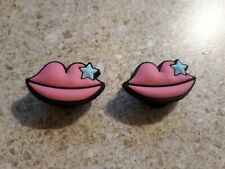 Lot of 2 Lips shoe charms for Crocs shoes. Other uses are Craft. Scrapbook